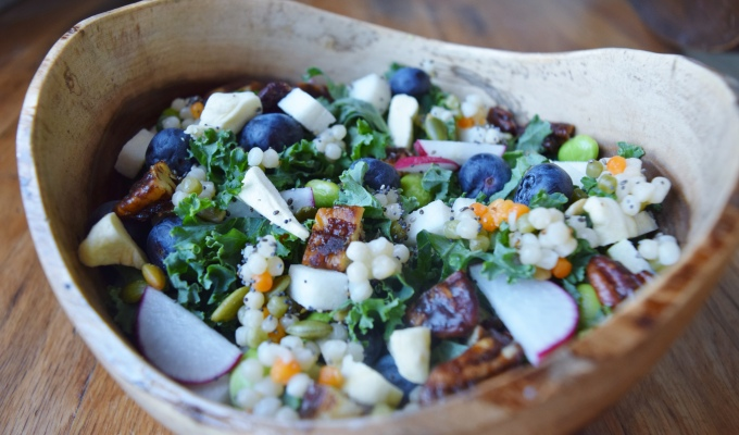 Jicama Blueberry Salad with Apple Poppyseed Dressing