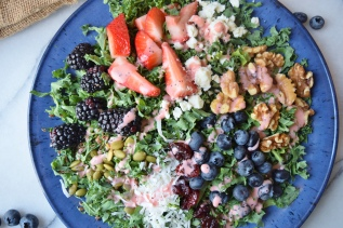 Berry Coconut Kale Salad